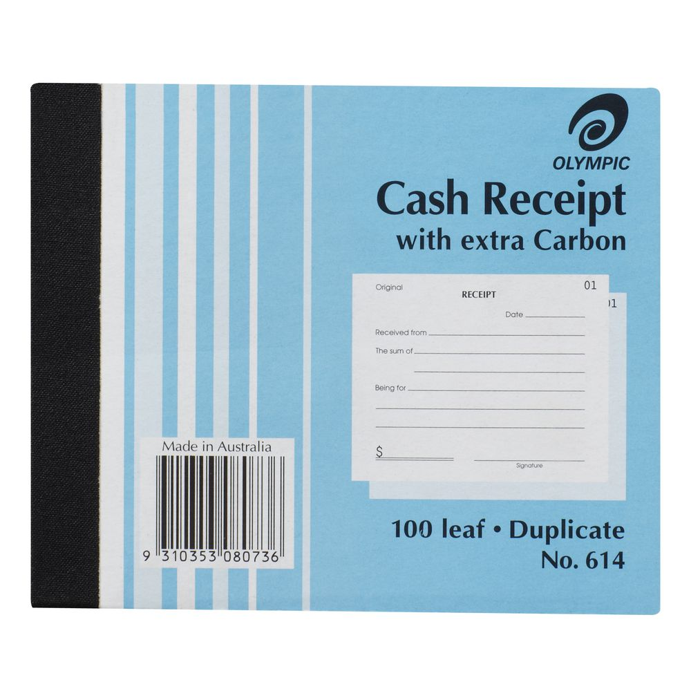 Olympic No. 614 Cash Receipt Book Carbon Duplicate   Officeworks