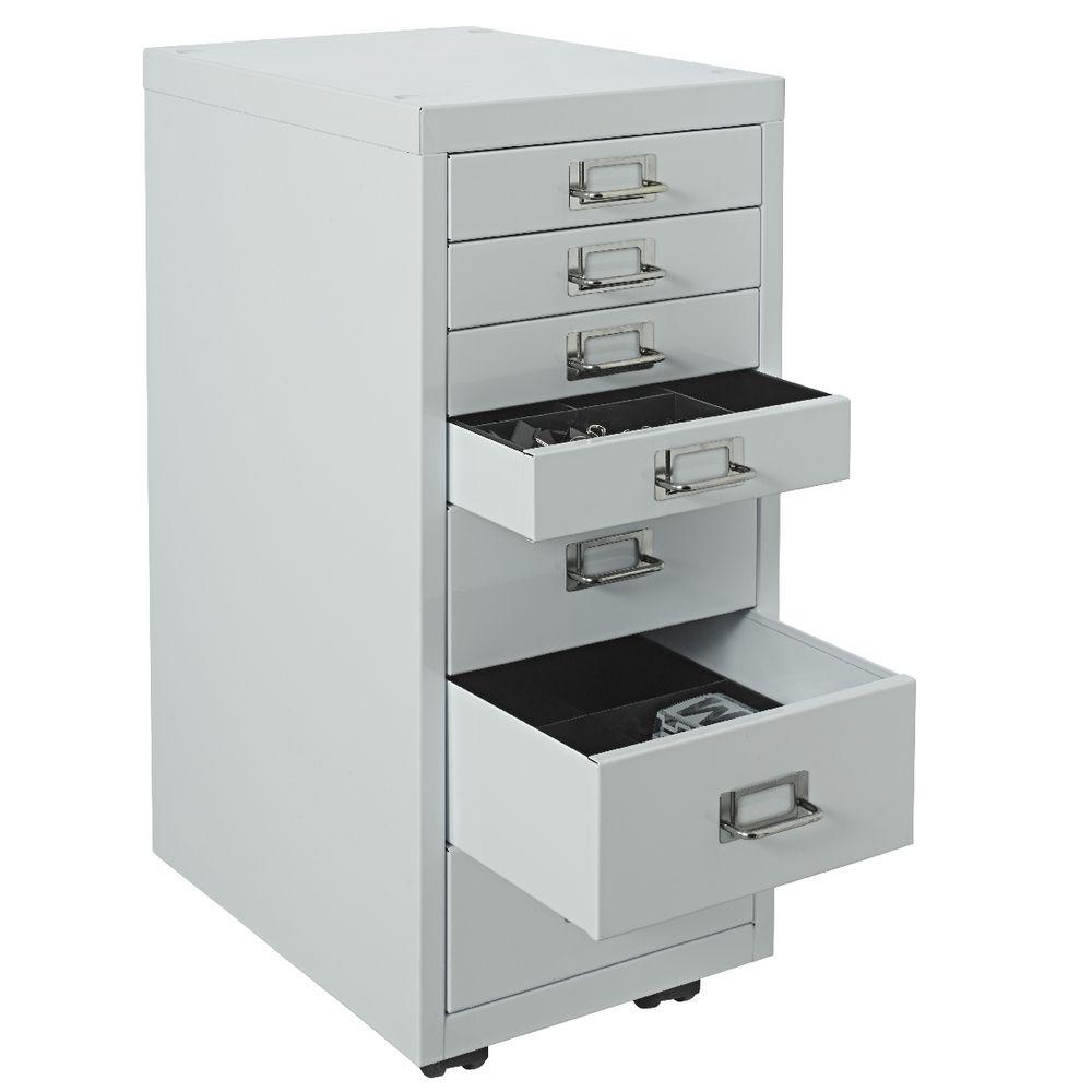 Spencer 7 Drawer Cabinet White | Officeworks