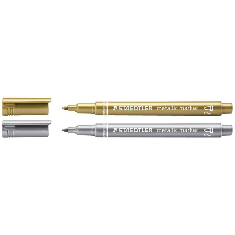 NEW 1 or 2 SILVER or GOLD METALLIC MARKER WRITING PENS 1mm NIB SUPREME