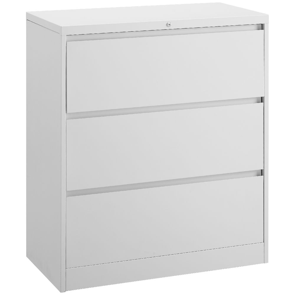 Matrix 3 Drawer Lateral Filing Cabinet White Officeworks