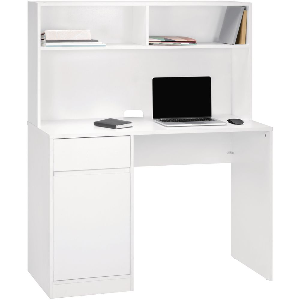 Newton Hutch Storage 1100mm Desk White Officeworks