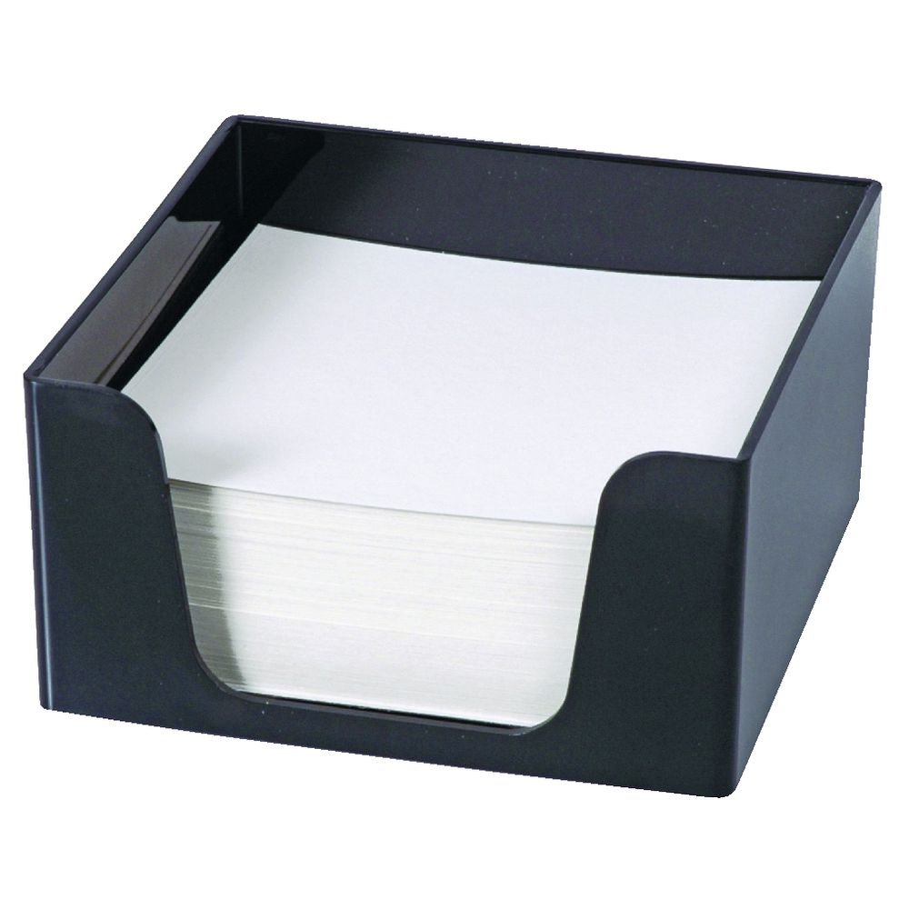 Esselte Sws Memo Cube With Paper Black Officeworks