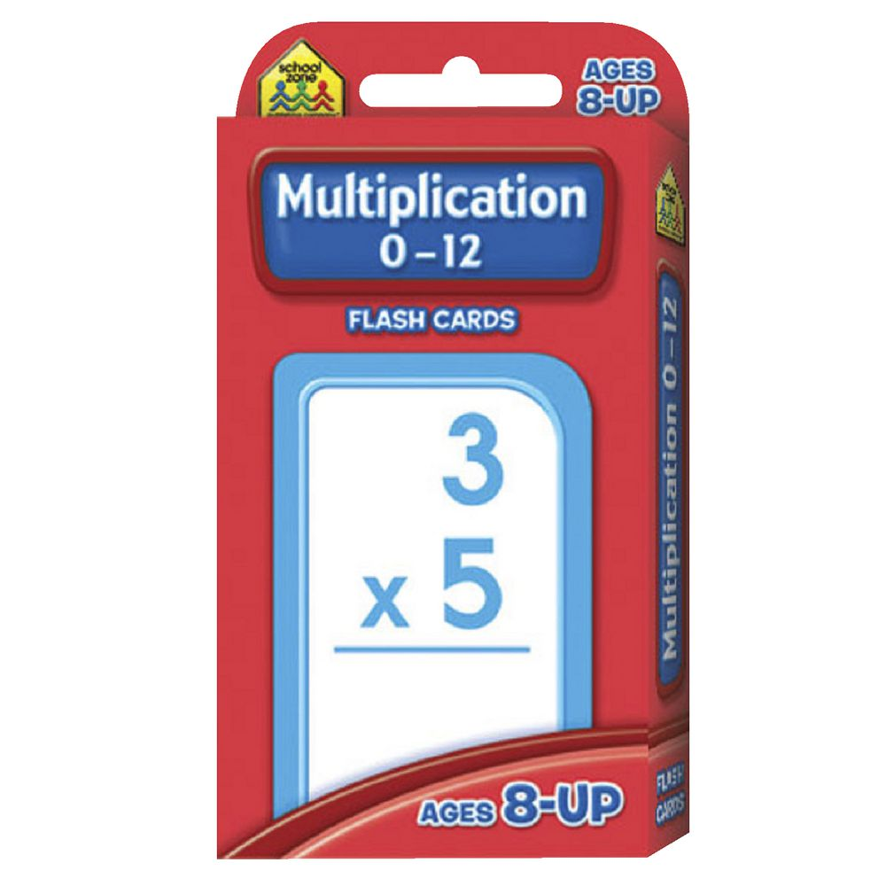 Worksheet Multiplication Flash Cards 0-12 school zone multiply 0 12 flash cards officeworks cards