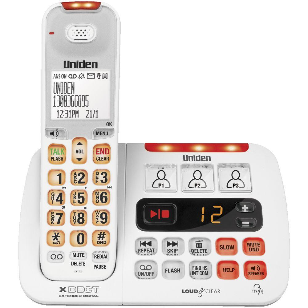 Uniden Sight and Sound Enhanced Cordless Phone SSE45W  eBay