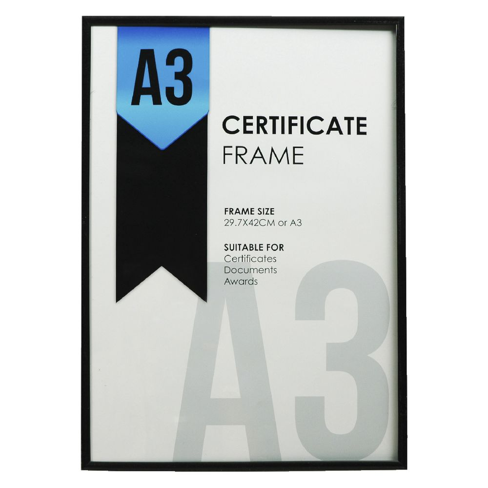 Lifestyle brands a3 certificate frame black officeworks lifestyle brands a3 certificate frame black xflitez Gallery
