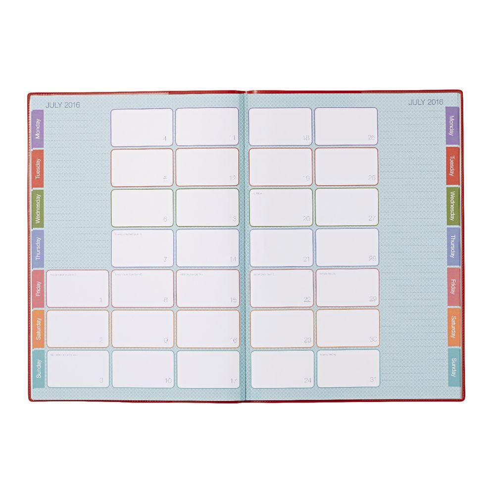 Year Calendar Officeworks : Upward a month to view desk planner assorted