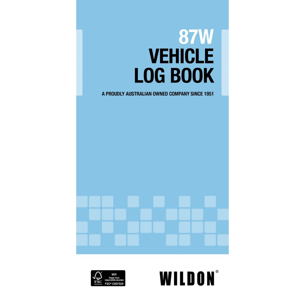 Wildon 87W Vehicle Log Book | Officeworks