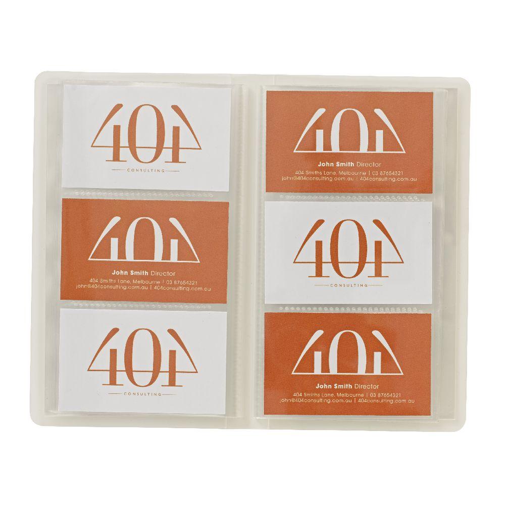 x business card holder 180 pocket frosted officeworks. Black Bedroom Furniture Sets. Home Design Ideas
