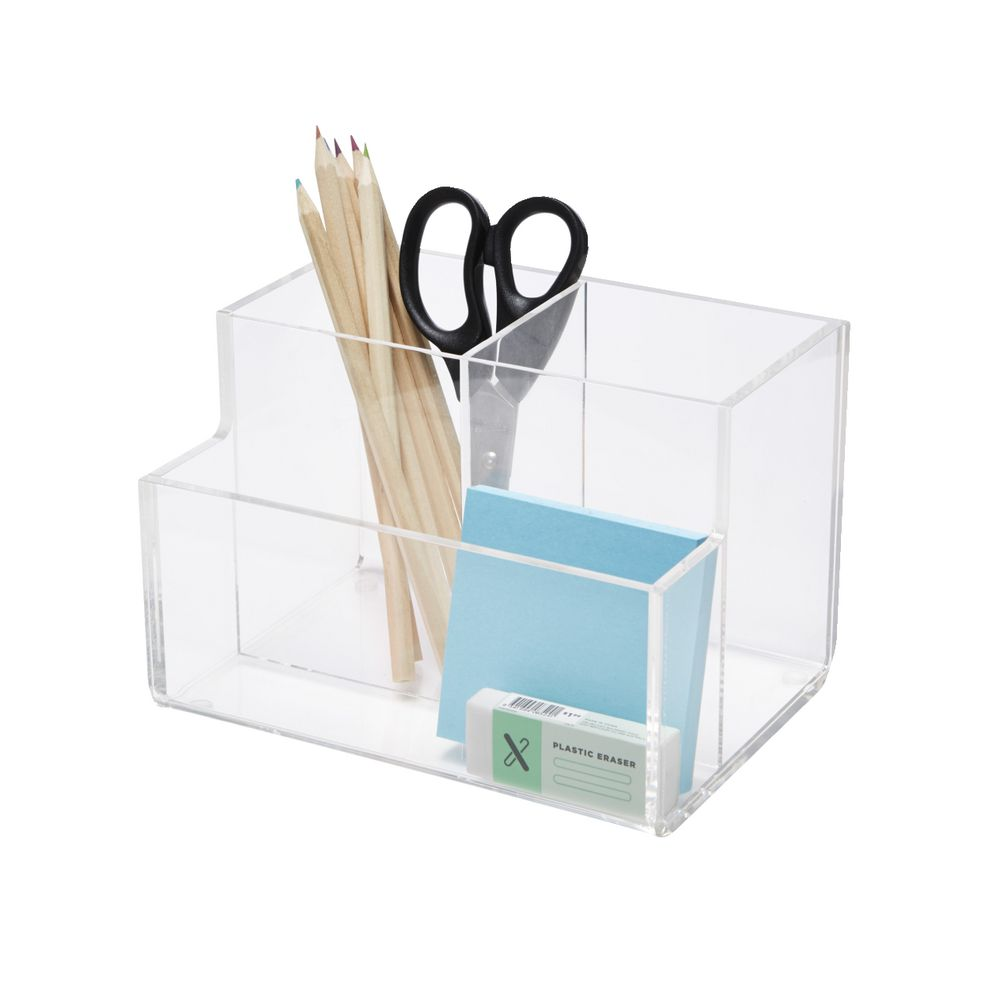 Surprising X Pen Stand Desk Tidy Acrylic Clear Home Interior And Landscaping Oversignezvosmurscom