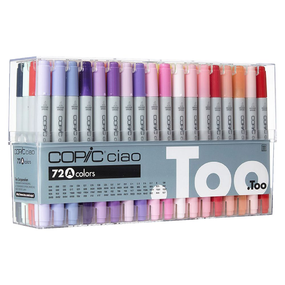 Copic Ciao Markers Assorted 72 Pack