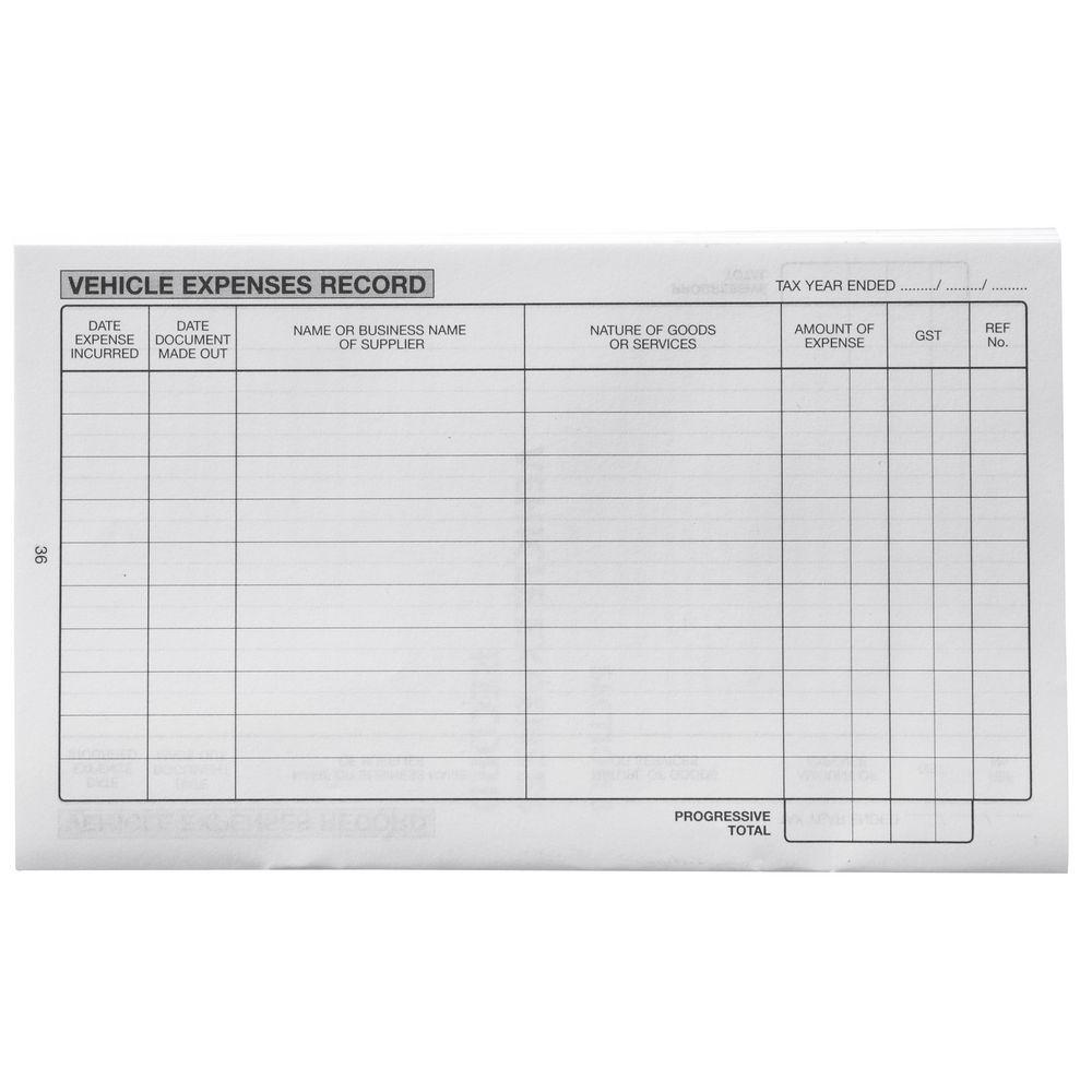 vehicle expense log