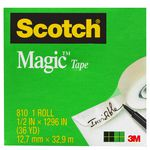 Scotch Magic 810 Invisible Adhesive Tape 12mm x 33m
