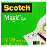 Scotch Magic 810 Invisible Adhesive Tape 24mm x 66m