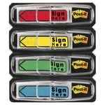 Post-it Mini Sign Here Flags 4 Pack