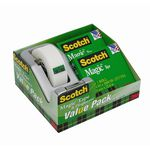 Scotch Magic Tape Dispenser C28 Silver 2 Pack