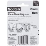 Scotch Removable Mounting Squares 25.4 x 25.4mm Clear 16 Pack