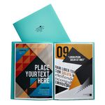 Aqua Drops A4 6 Page Pocket File Green