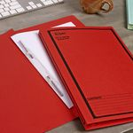 Avery Spiral Spring File Foolscap Red with Black Print