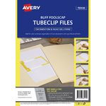 Avery Foolscap Tubeclip File Buff 5 Pack