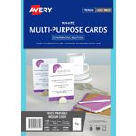 Avery Postcards Matte White 100 Pack