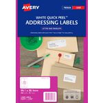 Avery Laser Address Labels White 20 Sheets 14 Per Page