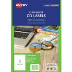 Avery Laser CD Labels White 25 Sheets 2 Per Page