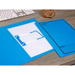Avery Foolscap Tubeclip File Blue