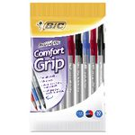 BIC Round Stic Comfort Grip Ballpoint Pens Assorted 10 Pack