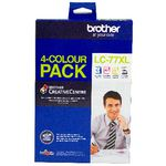 Brother LC-77XL Ink Cartridge 4 Pack