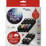 Canon CLI-651 and PGI-650 Ink Cartridges Value 6 Pack