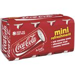 Coca-Cola Mini Cans 200mL 8 Pack