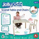 Jolly KidZ Scandi Table and Chairs Natural