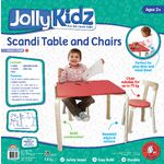 Jolly KidZ Scandi Table and Chairs Coral