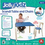 Jolly KidZ Scandi Table and Chairs Blue