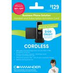Commander Essentials Cordless Business Phone Card W52P