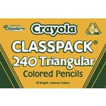 Crayola Triangular Pencils 240 Classpack