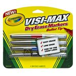 Crayola Visi-Max Whiteboard Marker Bullet Tip Assorted 4 Pack