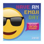 Orange Circle 2018 Wall Calendar Have An Emoji Day