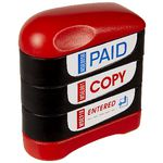 Deskmate Pre-inked Multi-stamp Stacker Paid, Copy and Entered