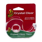 Duck Crystal Clear Tape with Dispenser 19mm x 16.5m