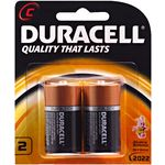 Duracell Coppertop C Batteries 2 Pack