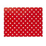 Document Wallet A4 Printed PP Red and White