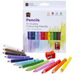 Educational Colours Stubby Colouring Pencils 12 Pack