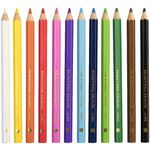 Educational Colours Jumbo Triangular Pencils 12 Pack