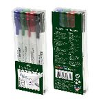 Faber-Castell Whiteboard Markers Fine Bullet Assorted 4 Pack