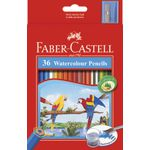 Faber-Castell Watercolour Hexagonal Pencils 36 Pack
