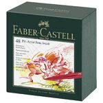 Faber Castell Pitt Artist Pen Studio Assorted 48 Pack