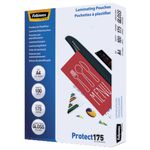 Fellowes A4 175 Micron Laminating Pouch Gloss 100 Pack
