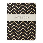 Go Stationery A6 Shimmer Notebook Chevron Gold Black 192 Page
