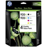 HP 920XL Ink Cartridges Black and Colour Value 4 Pack